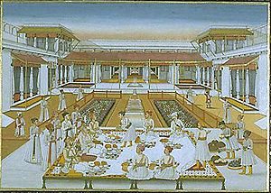 Alamgir II - Imad ul-Mulk, a persecutor of the Mughal imperial family, holds a banquet.