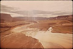 In October, 1972, a Pipeline of the Texas - New Mexico Pipeline Company Burst, Releasing 285,000 Gallons of Crude Oil Into the San Juan River, 10-1972 (3814159407).jpg