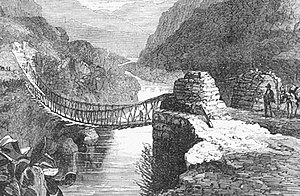 Stress (mechanics) - Inca bridge on the Apurimac River