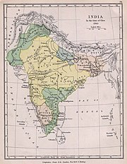 Extent of the Maratha Empire ca. 1760(shown here in yellow)