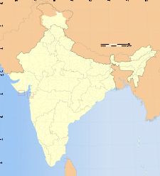 Map of India with the location of ದಮನ್ ಮತ್ತು ದಿಯು highlighted.