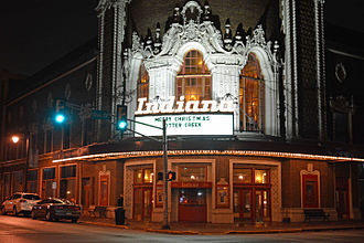 Indiana Theatre (Terre Haute, Indiana) - The Indiana Theatre at night