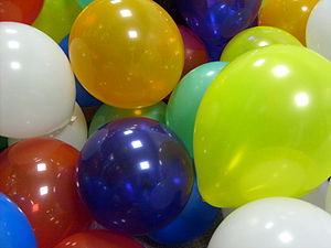 Inflatable -  Balloons are the most common type of inflatable.