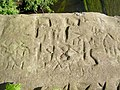 Initials carved in the sandstone over many years. - geograph.org.uk - 419179.jpg