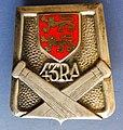 Insigne du 43e régiment d'artillerie, Caen.jpg