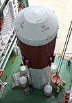 Integration of strap-ons to PSLV-C30 core stage under progress.jpg