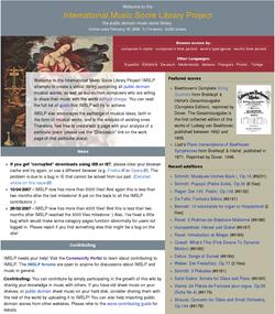 Proyecto Biblioteca Internacional de Partituras Musicales
