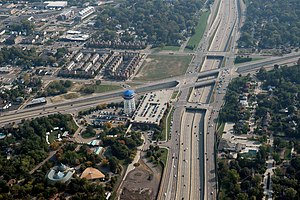 Interstate 696 - Image: Interstate 696 and M 1 aerial