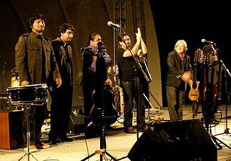Inti-Illimani - Inti-Illimani Nuevo (New) performing on February 26, 2007 (left to right): Christián González, César Jara, Manuel Merino and Marcelo Coulón.