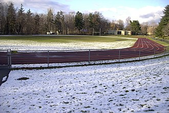 Iona Preparatory School - Field and track in early winter