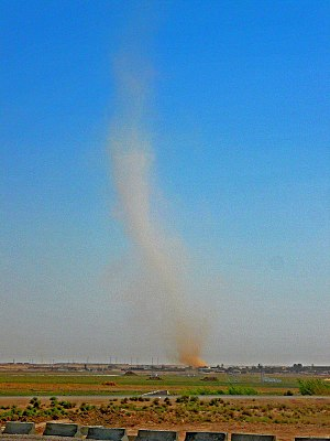 Secondary flow - An example of a dust devil in Ramadi, Iraq.