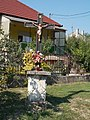 Iron crucifix. Close to the train station. - Simontornya. Hungary.JPG