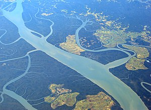 Irrawaddy River - Bird's eye view of the river