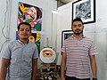 Irvin Sto. Tomas and Jay Mesa at Buklat Art and Book Expo, 2018.jpg