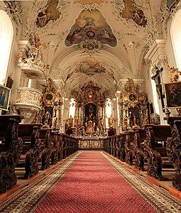 Ischgl church interior from below.jpeg