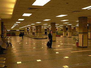 The international baggage claim area, photogra...