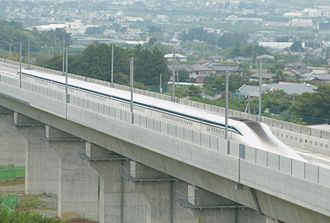 L0 Series - A seven-car trainset undergoing test-running in August 2014