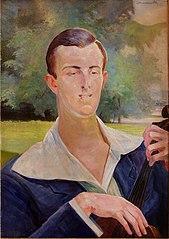 Portret mężczyzny z wiolonczelą