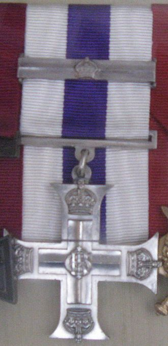 Military Cross - Albert Jacka's MC and bar, gazetted in 1916