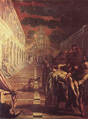 St Mark's Body Brought to Venice (1548).