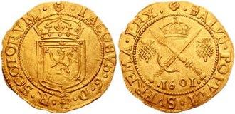 Pound Scots - Image: James VI 1601 662018