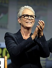 An image of Jamie Lee Curtis showing her upper body and face