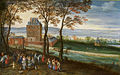 Jan Brueghel (I) Schloss Mariemont 1611.jpg