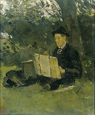 Jan Verkade - Verkade painting under a tree, 1892 (Rijksmuseum)