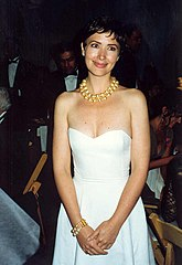 Janine turner at the governor s ball after the 1992 emmy awards