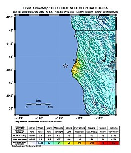 January 2010 Eureka earthquake intensity USGS.jpg