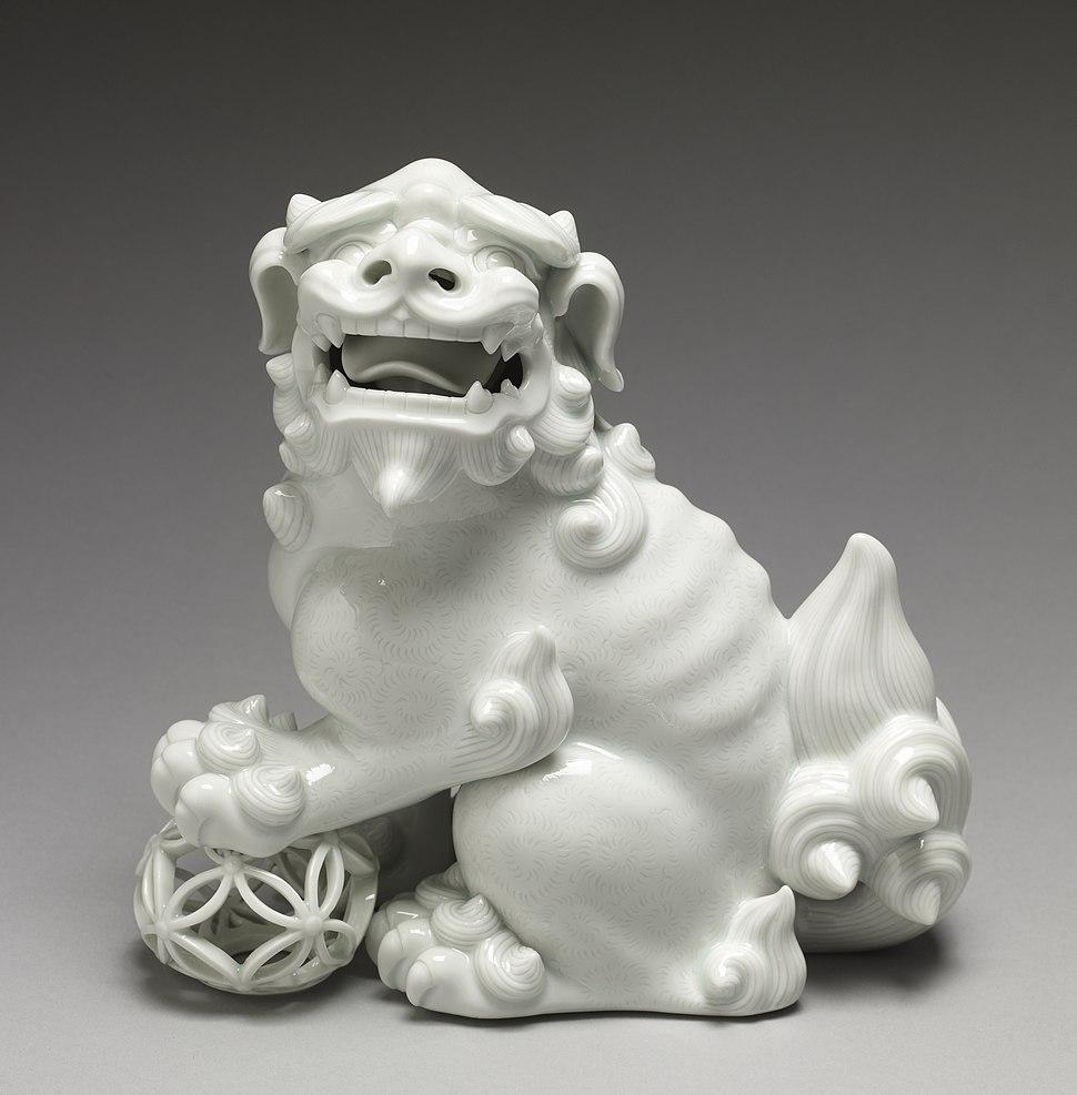 "Japanese - Figurine (""Okimono"") of a Lion with a Ball - Walters 491757"
