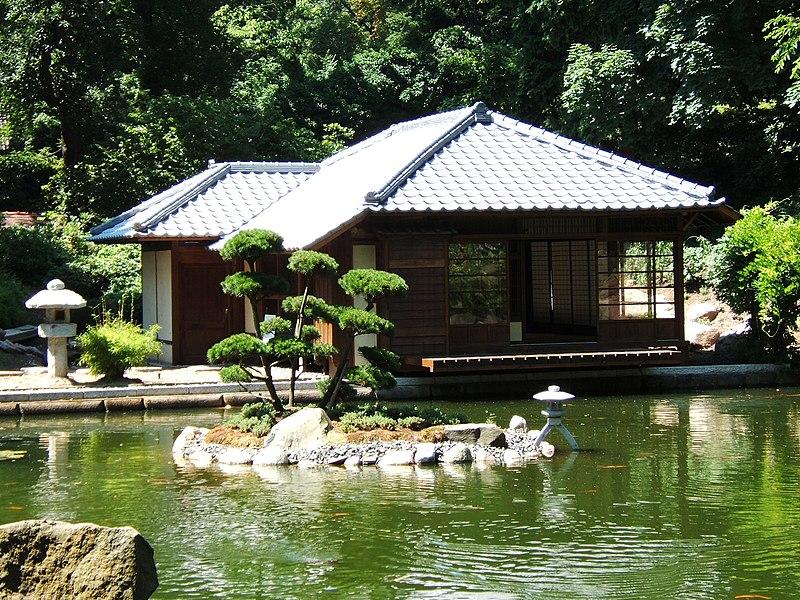 Altana ogrodowa w stylu japoński