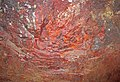 Jaspilite (Soudan Iron-Formation, Neoarchean, ~2.69 Ga; wall near the No. 8 elevator shaft, 27th level of the Soudan Mine, Soudan, Minnesota, USA) 1 (18408323243).jpg