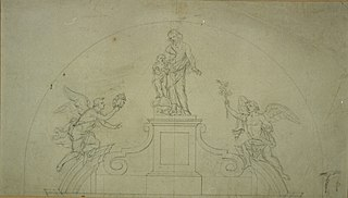 Design for the crown of an altar