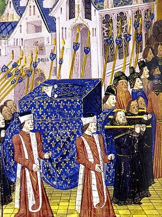 John I of France - Funerary convoy of John I.