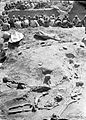 Jebel Moya; showing positions of skeleton. Natives sorting Wellcome M0001539.jpg
