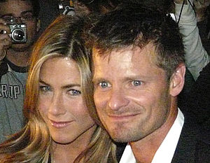 Steve Zahn - Zahn with Jennifer Aniston at the premiere of the movie Management, in which they both starred, 2008.