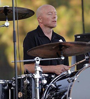 Jerry Augustyniak - Augustyniak performing with 10,000 Maniacs at Pittsford Park in Lake Forest in 2015