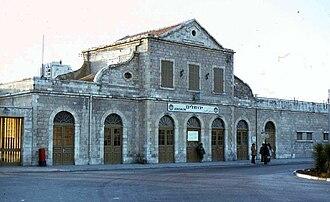 Jerusalem railway station - Jerusalem railway station in 1978