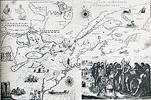 Map of New France by Francesco Giuseppe Bressani, 1657.