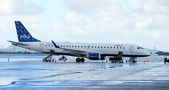 Henry E. Rohlsen Airport - A JetBlue Airways Embraer 190 on the apron