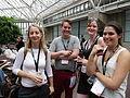 Jimmy Wales' press team at Wikimania 2014 01.jpg