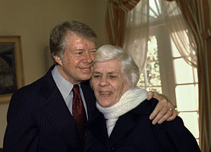 Lillian Gordy Carter - With Jimmy Carter, February 17, 1977