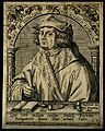 Joannes ab Indagine (Gersdorff). Line engraving by T. de Bry Wellcome V0003017.jpg