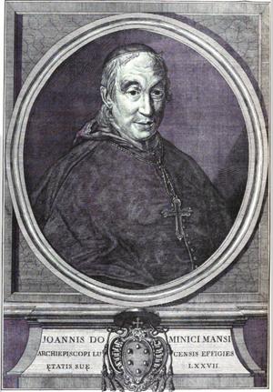Giovanni Domenico Mansi - Image: Joannis Dominici Mansi