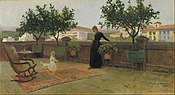Joaquim Vayreda - Terrace - Google Art Project.jpg