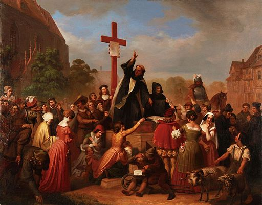 Johann Daniel Lebrecht Franz Wagner - Friar Johann Tetzel Selling Indulgences