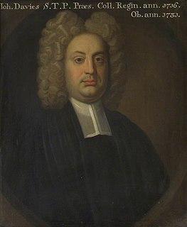 John Davies (Queens) English cleric and academic, born 1679