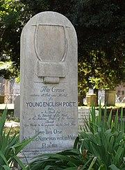 Keats' grave in Rome