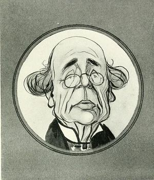 Clayton and Bell - Caricature of John Richard Clayton